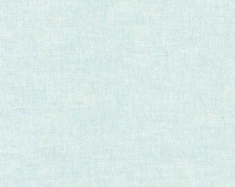 Kaufman Essex Linen Cotton Linen Blend Aqua Light Blue Fabric 1005 BTY