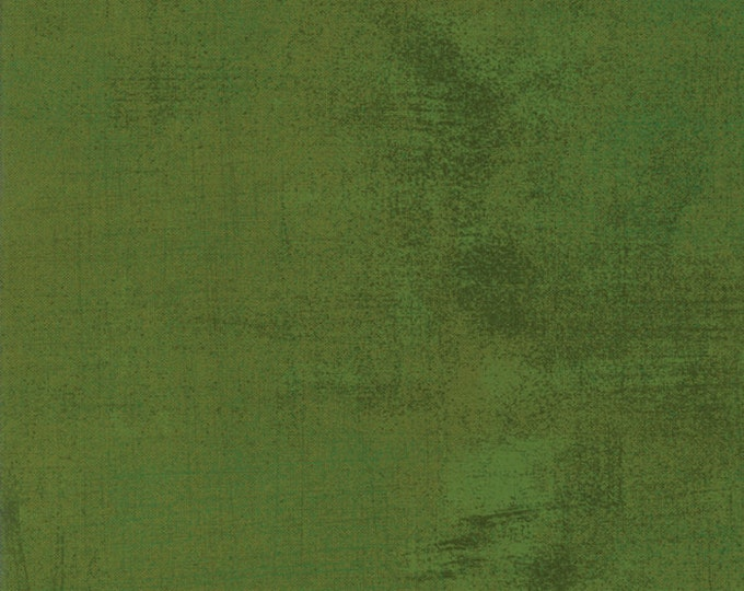 Moda Grunge Basics OLIVE BRANCH Green Mottled Background Fabric 30150-345 Fabric BTY