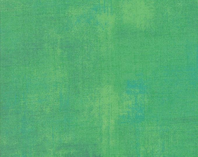 Moda Grunge Basics JADE CREAM Kelly Bright Green Mottled Background 30150-338 Fabric BTY