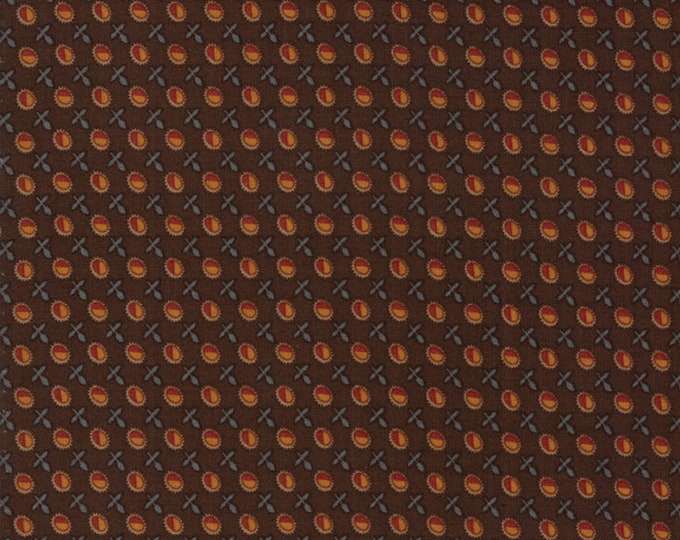 Moda Timeless by Jo Morton Brown Rust Red Gold Circle Civil War Reproduction Fabric 38022-14 BTY