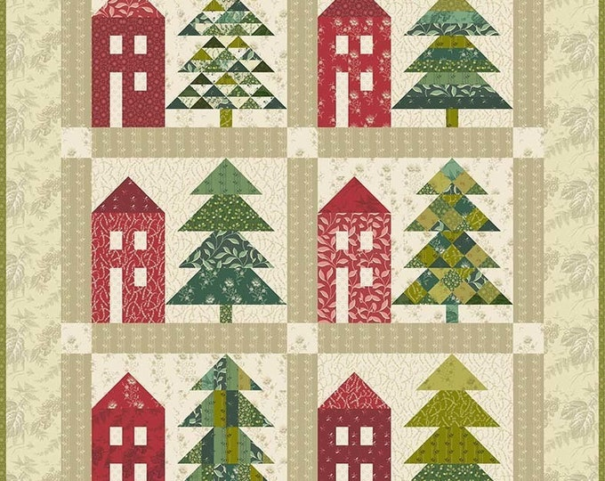 FRANKENMUTH Tree House BOM Edyta Sitar Laundry Basket Quilts Quilt Tree Pattern  48.5 x 59.5