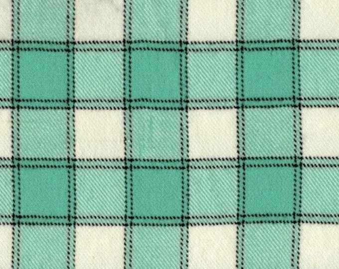 Marcus Primo Plaids Flannel Color Crush Mint Teal Green White Plaid Fabric 9775-0120 BTY