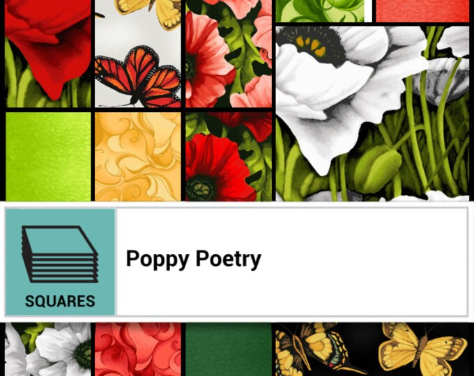 "Poppy Poetry 10"" Layer Cake by Cedar West for Clothworks -TSQ0223"