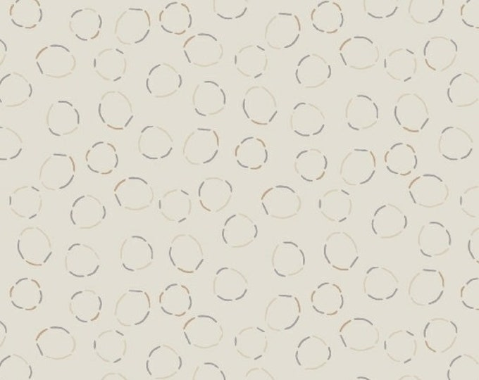 Marcus Nancy Rink Getting to Know Hue White Grey Circle Tonal Fabric 9718-0138 BTY