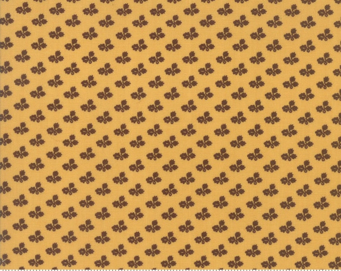 Moda Betsy Chutchian Rachel Remembered Butter Yellow Civil War Tiny Floral Fabric BTY 31546-16