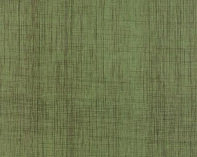 Moda Classic Wovens Cross Weave Moss Green Burlap Look Cotton Fabric 12120-73 BTY
