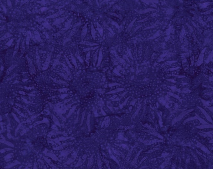 Hoffman Violet Purple Merlot Grape Sunflower Floral Batik Fabric 884-81 BTY