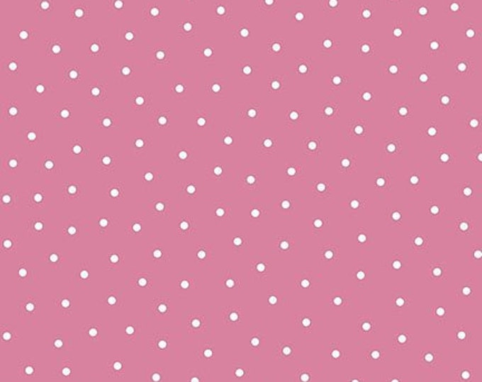 Quilting Treasures QT Patchwork Farms  Dots pink and white 26114-P Fabric BTY