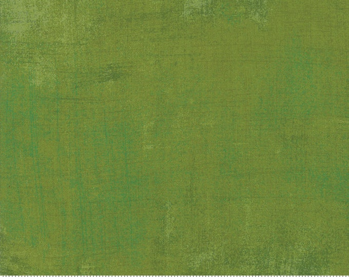 Moda Grunge Basics New ZESTY APPLE Green Lemongrass Olive Mottled Background Fabric 30150-496 BTY