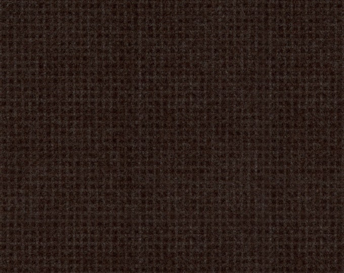 Maywood Woolies Dark Brown Weave Plaid FLANNEL Fabric MASF-18123-K BTY
