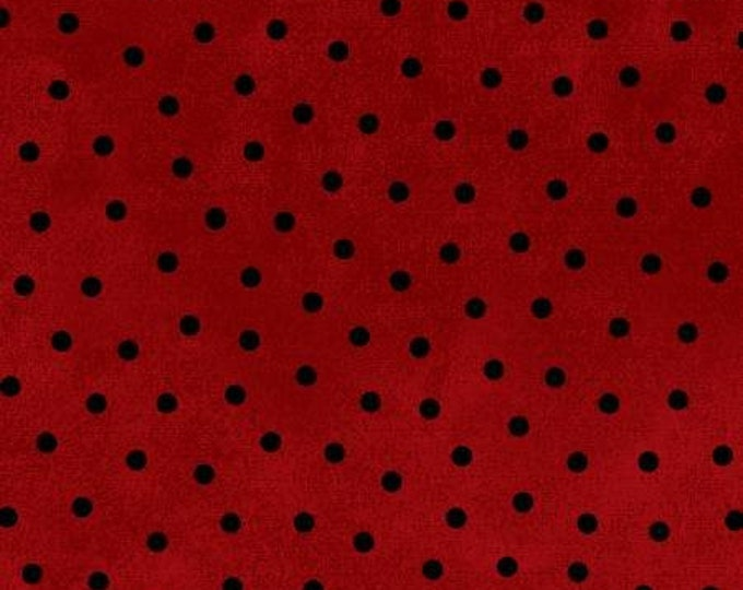 Maywood Woolies Red Brick with Black Polka Dot FLANNEL 18506-R Fabric BTHY