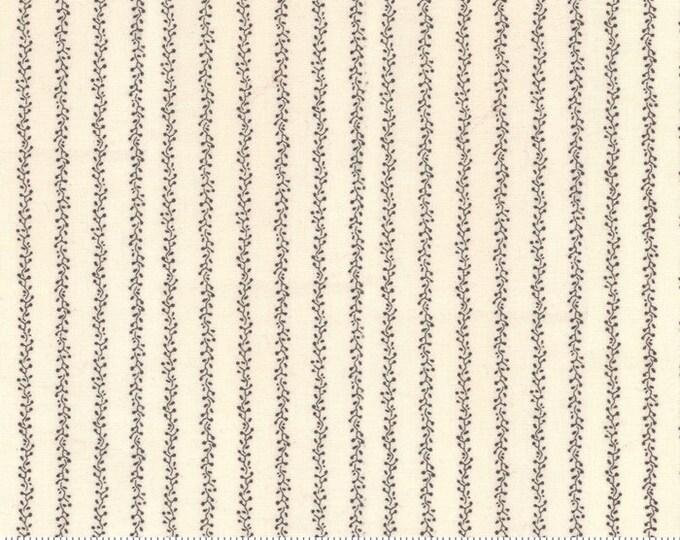Moda Primitive Gatherings Flower Garden Gatherings Cream Tallow Stripe Civil War Fabric 1244-11 BTY
