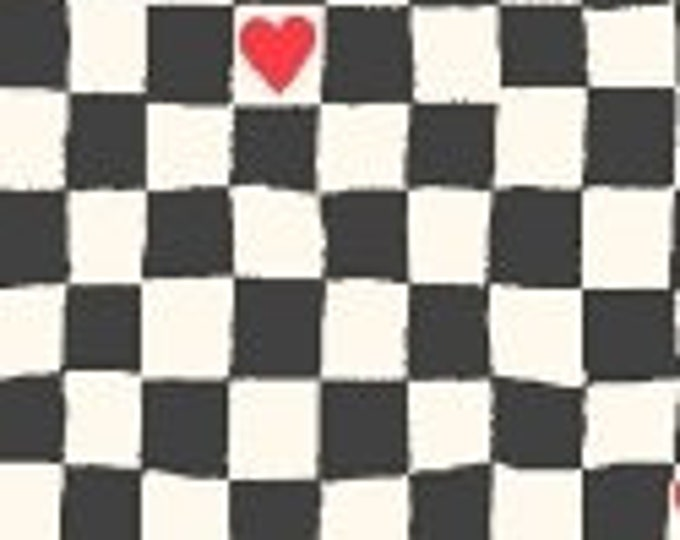 Windham Fabrics Going Steady 43282-5 squares Black and White BTY