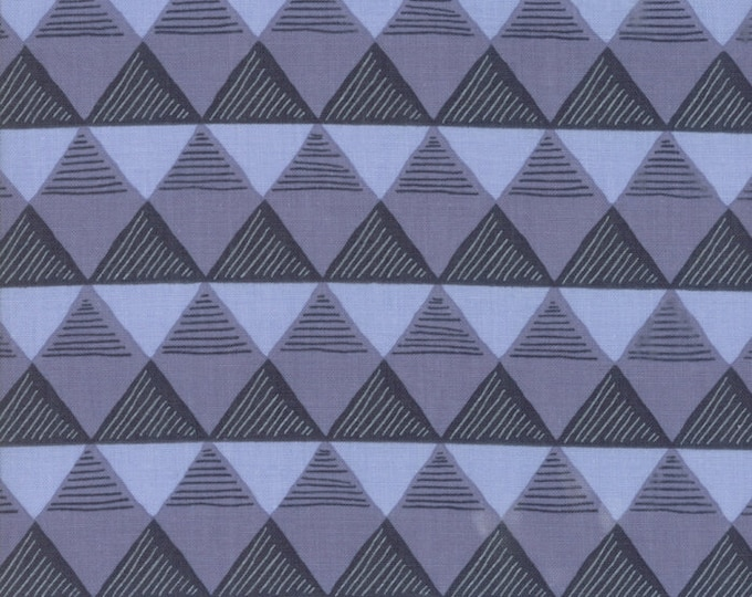 Moda Twilight by One Canoe Two Blue Purple Gray Triangle Fabric 36034-16 BTY