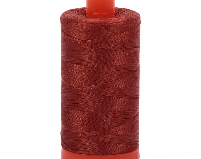 AURIFIL MAKO 50 Wt 1300m 1422y Color 2350 Copper Quilt Cotton Quilting Thread