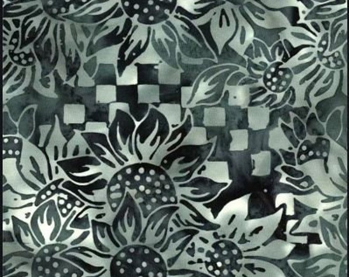 Batik Textiles Floral Black and Gray Rings 4347  Fabric BTY