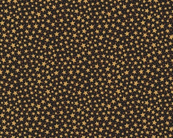 RJR Christmas Remembered Lynette Jenson Thimbleberries Black with Chestnut Gold Star 2771-002 Fabric BTY