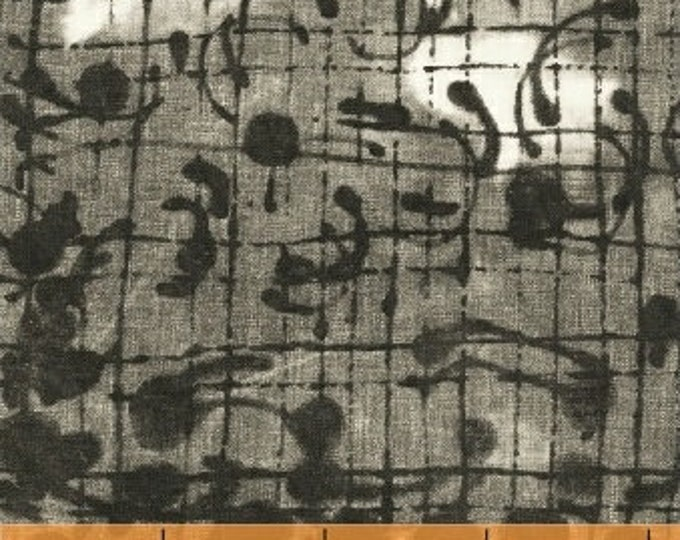 NEW Windham The Opposite by Marcia Derse Black White Gray Grey Grid Scribble Laughing Gravy Modern Fabric 51071-2 BTY