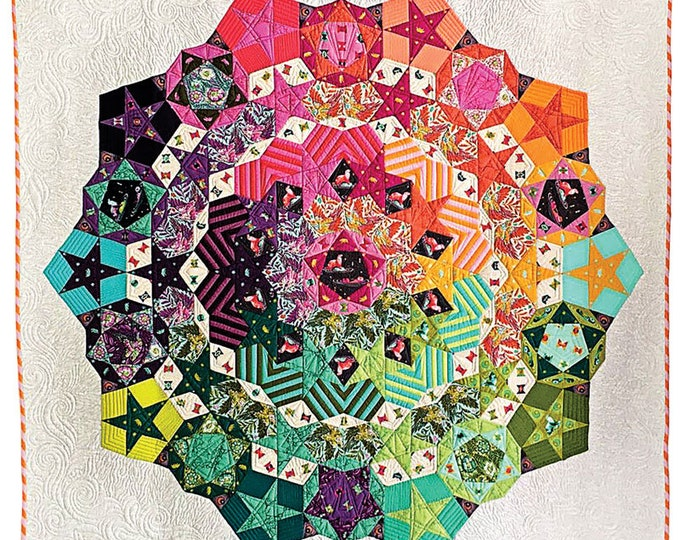 Paper Pieces TULANOVA Tula Nova Complete Pattern and Paper Pieces 61 x 61 Quilt Kit
