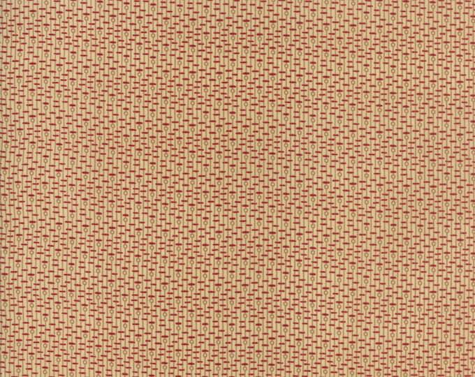 Moda New Hope Jo Morton Beige Tan Red Dash Circle Civil War Fabric 38034-11 BTY