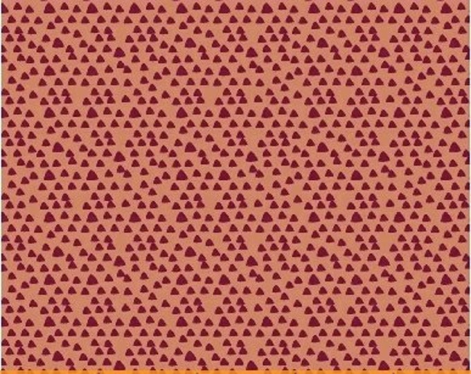 Windham fabrics  Little Tinies by Another Point of View Orange Mini Triangles   Cotton 40413-6 BTY