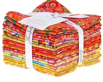 20 Fat Quarters Rowan Kaffe Fassett Citrus Orange Yellow Red Classics Fabric Bundle