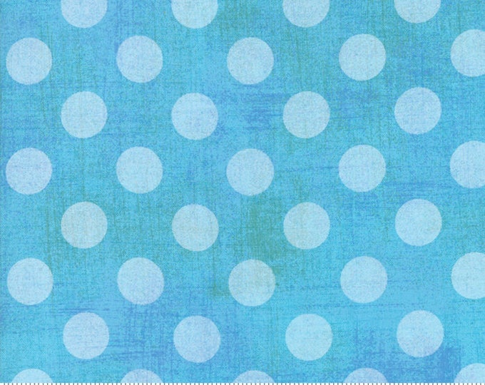 Moda Basic NEW Blue Hits the Spot Polka Dot Grunge 30149-54 Fabric BTHY