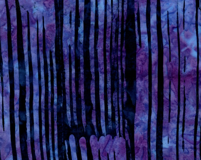 RJR Flaurie and Finch Blossom Batik Brush Purple Violet Blue Fabric 3139-003 BTY