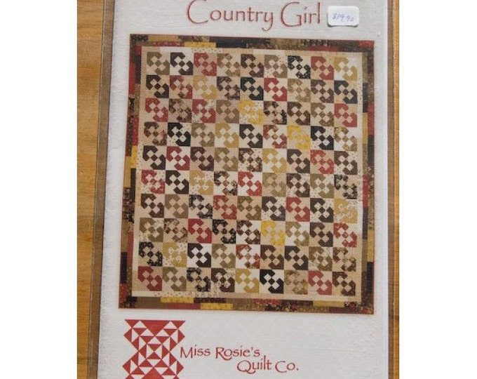 Miss Rosie's Country Girl Fat Quarter Friendly Quilt Pattern 78 x 85
