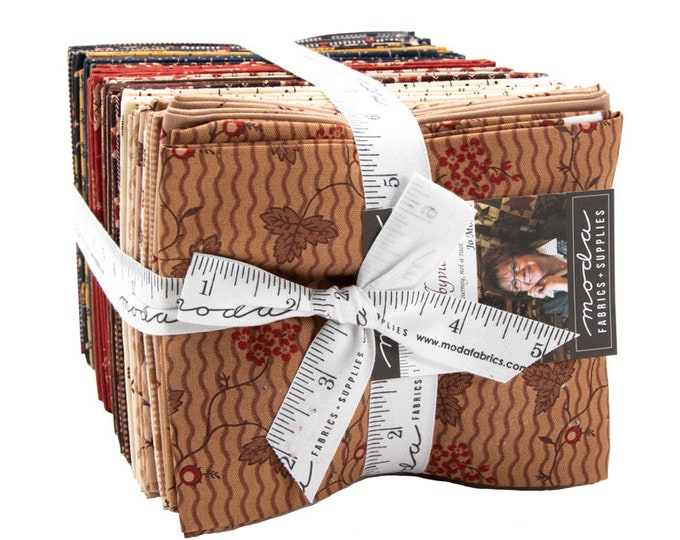 Moda Shelbyville Jo Morton Civil War Reproduction Brown Blue Tan Red 40 Fat Quarter Fabric Bundle