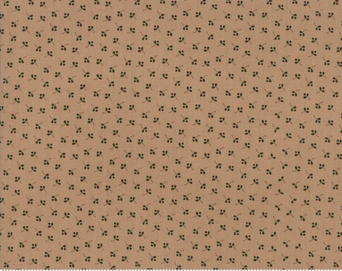 Moda Jos Shirtings by Jo Morton Tan Light Brown Floral Civil War Fabric 38042-14 BTY