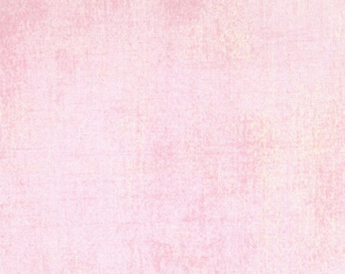 Moda Basic Grey Grunge Light Baby DUCHESS Pink Cream 30150-64 Fabric BTY