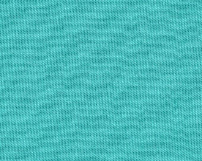 Robert Kaufman Kona Cotton Solid  CAPRI 442 Light Blue Green Teal Fabric BTY