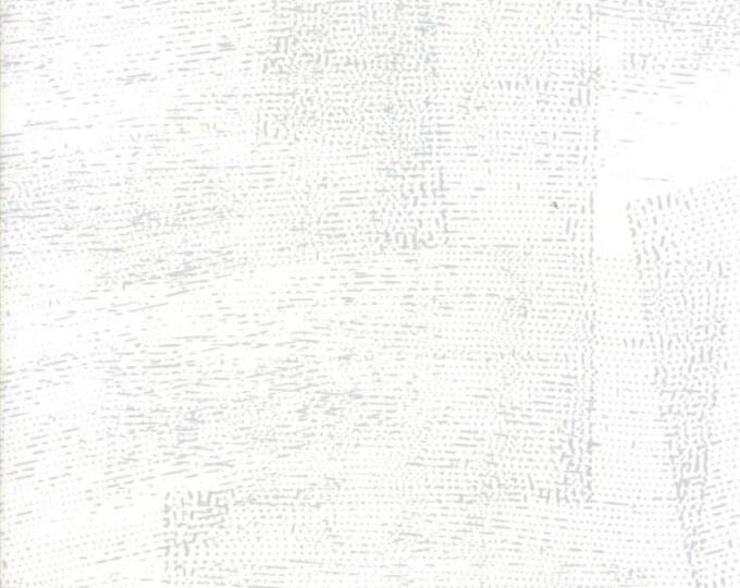 Moda Zen Chic Modern Fragile White Silver Grey Stamped Background Fabric 1632-11 BTY 1 yd