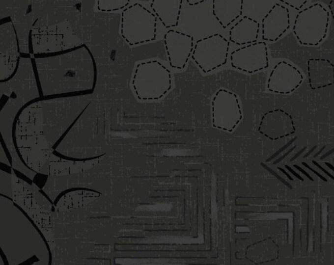 Marcus R21 Fade In Modern Background Black Tonal Fabric 9892-0112 BTHY