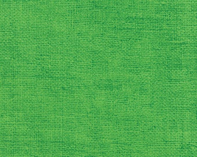 Moda Bright Kelly Green Rustic Weave Burlap Look Cotton Fabric 32955-47 BTY
