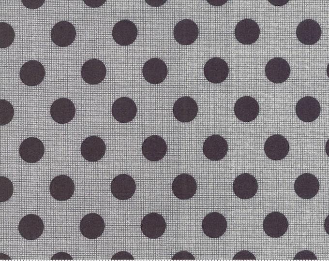 Moda Jen Kingwell Circulus Tiny Plaid Polka Dot Charcoal Grey Fabric 18131-26 BTHY