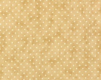 Moda Essential Dots Tan Beige Tonal Polka Dot Background Fabric 8654-43 BTY