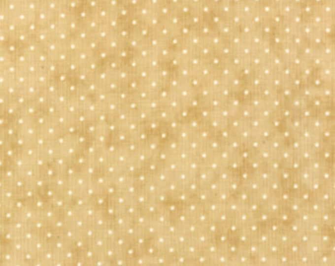 Moda Essential Dots Tan Beige Tonal Polka Dot Background Fabric 8654-43 BTY