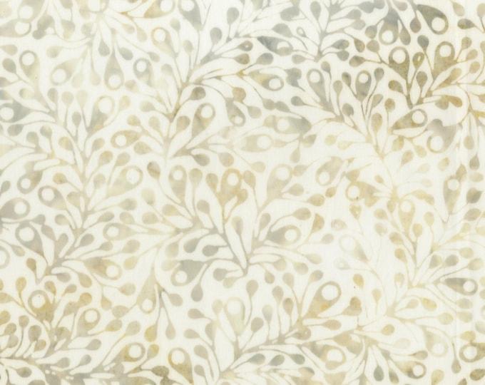 Anthology Art Inspired Batik Whisper V2 Cream Tan Brown Beige Leafy Fabric 921Q-1 BTY