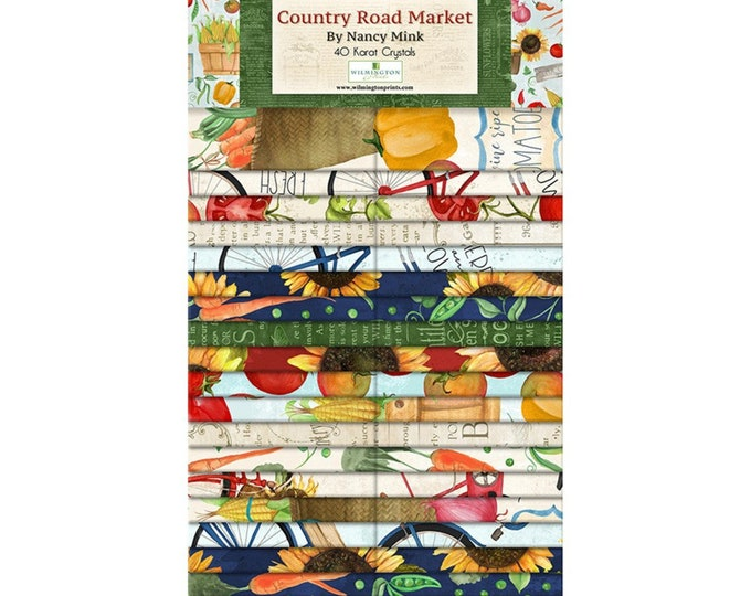 Wilmington Crystals Conutry Road Market 2 1/2 Fabric 40 pieces per pack 108345