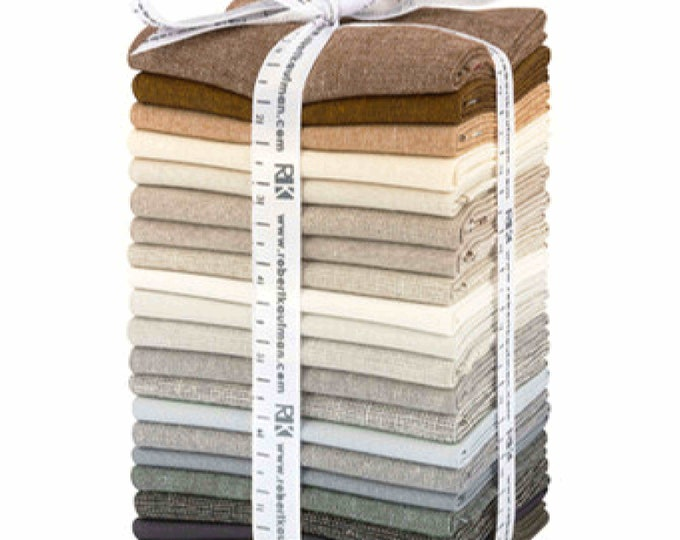 Kaufman Chalk and Charcoal 20 Fat Quarter Grey Brown FQ-1353-20 Fabric Bundle