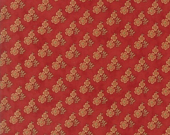Moda Gratitude Jo Morton Daisy Cinnamon Red Floral Civil War Fabric 38005-11 BTY