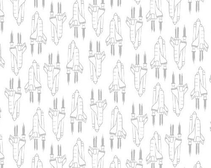 Windham Out of This World Whistler Studios Space Ship Astronaut Shuttle Fabric 50780-3 BTY