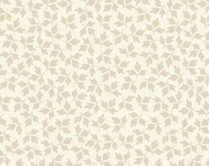 Maywood Fabric MAS9329-E Cream Floral Leaves A Fruitful Life BTY