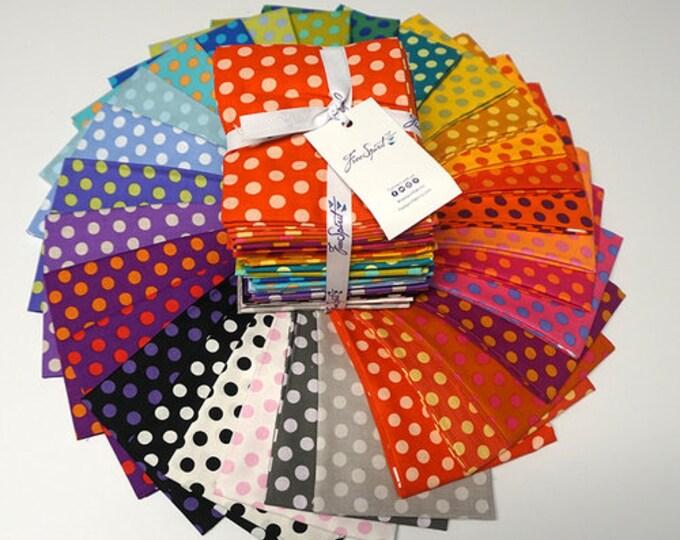 Free Spirit Rowan Kaffe Fassett Candy Polka Dots Spot Fabric Red Green Yellow Blue Pink 30 Fat Quarter FQ Bundle