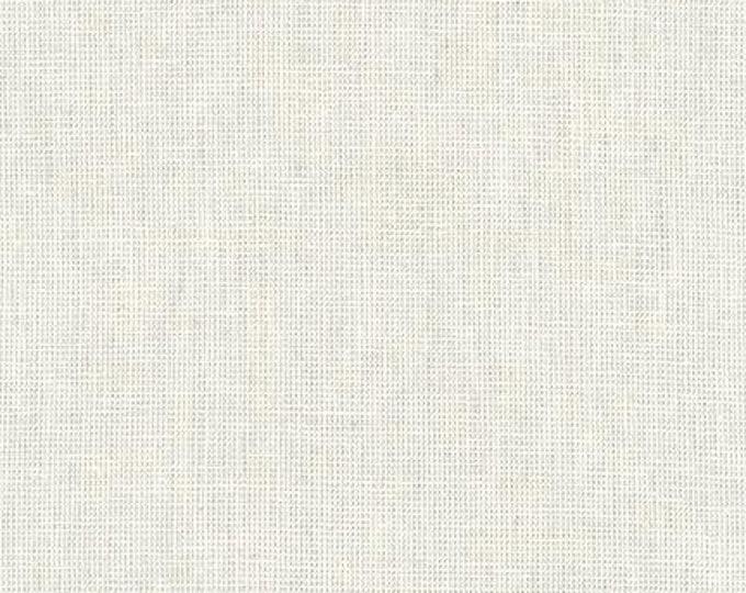 Kaufman Essex Yarn Dyed Homespun Cotton Linen Blend Canvas Silver Light Gray Grey Fabric E114-1333 BTY