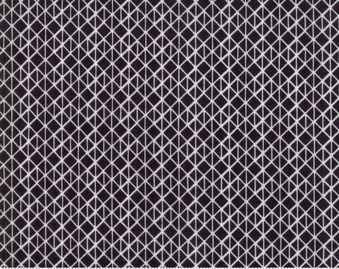 Moda Basic Grey METROPOLIS Iron Black Half Square White 30564-18 Fabric BTY