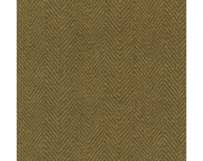 Maywood Woolies Bark Brown Herringbone MASF-1841-A Flannel Fabric BTY