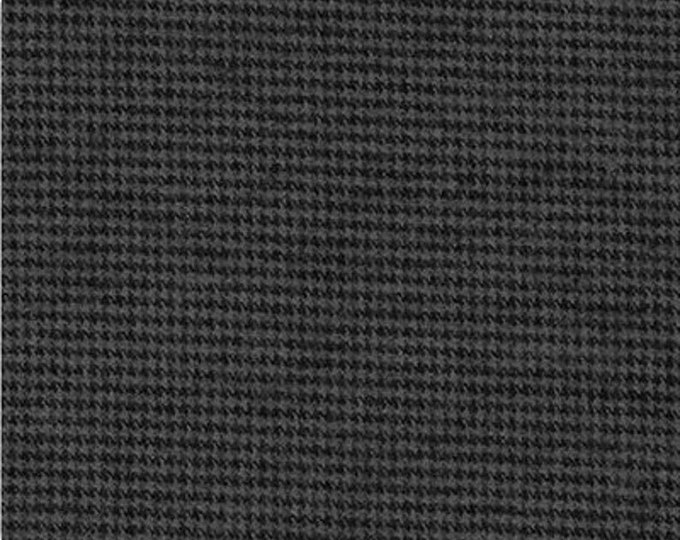 Kaufman Shetland Flannel Black Grey Gray Charcoal Smoke Fabric SKRF-15613-305 BTY